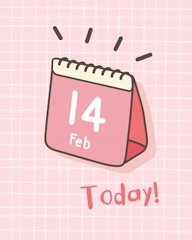 Izometryczny kalendarz szczęśliwych walentynek