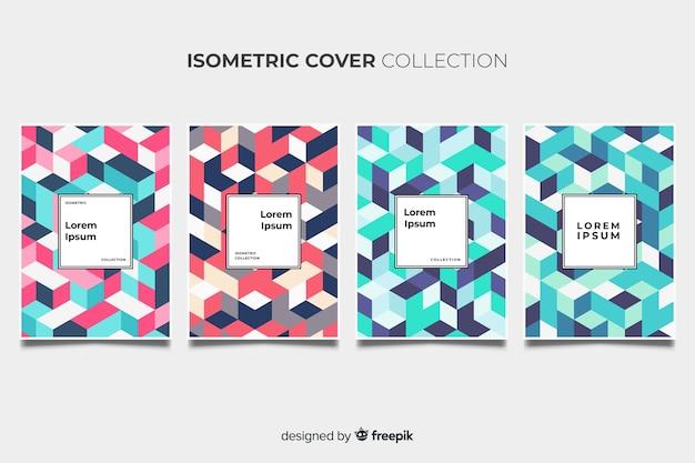 Izometryczny kolorowy wzór broszury