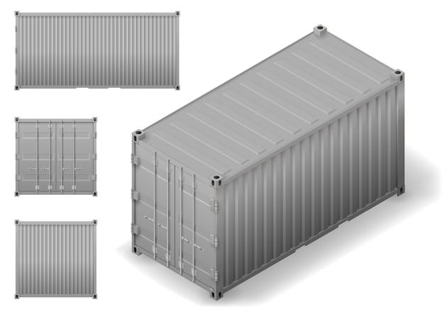 Izometryczny kontener ładunkowy
