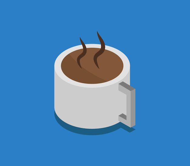 Izometryczny kubek kawy