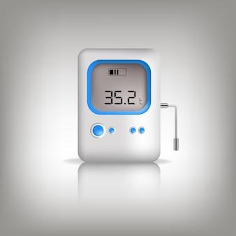 Izometryczny medyczny cyfrowy bezkontaktowy termometr na podczerwień