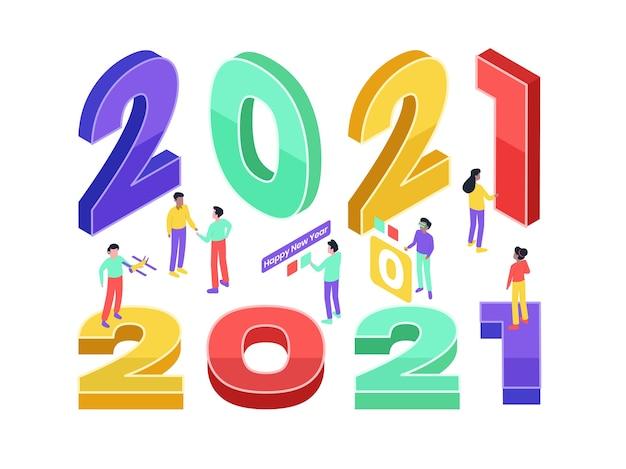 Izometryczny nowy rok