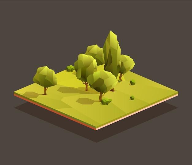 Izometryczny obszar lasu