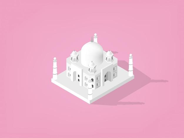 Izometryczny pałac taj mahal