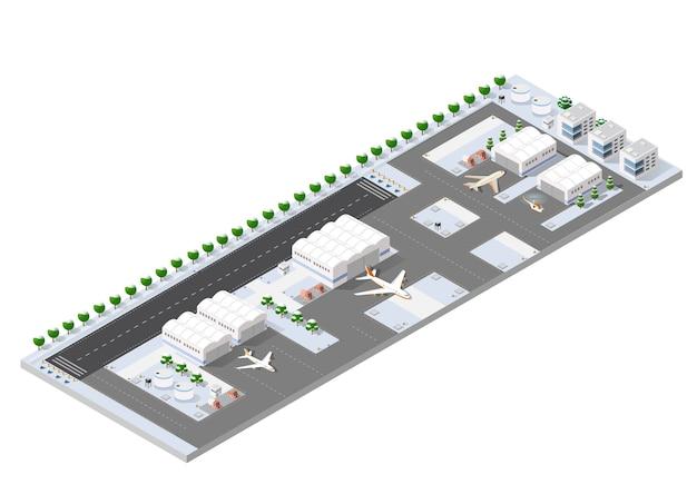Izometryczny pas startowy 3d