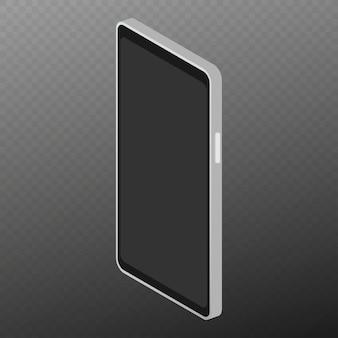 Izometryczny płaski 3d na białym tle smartfon.