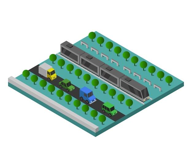 Izometryczny pociąg