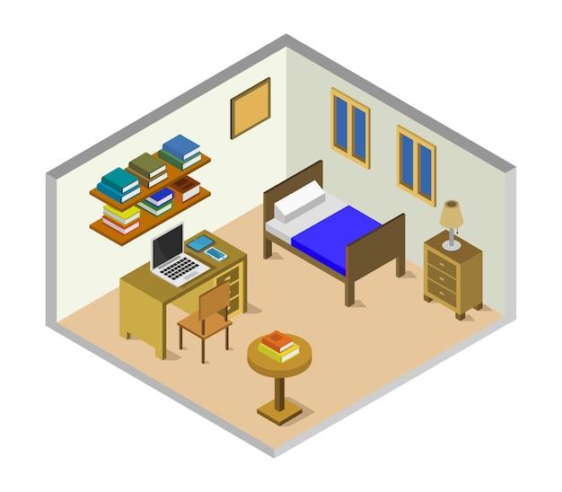 Izometryczny pokój dziecięcy