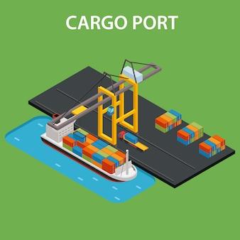 Izometryczny port cargo