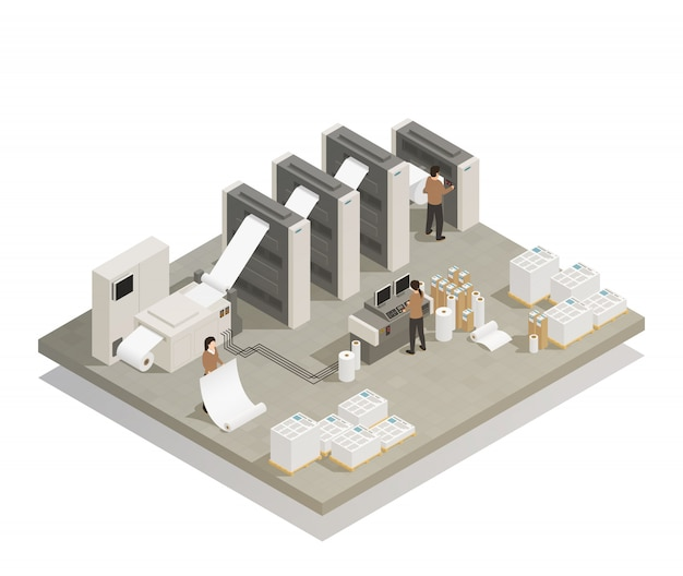 Izometryczny proces produkcji druku