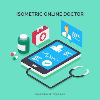 Izometryczny projekt lekarza online