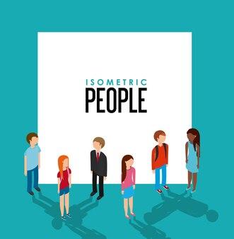 Izometryczny projekt ludzi