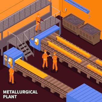 Izometryczny przemysł stalowy
