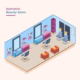 Izometryczny salon piękności