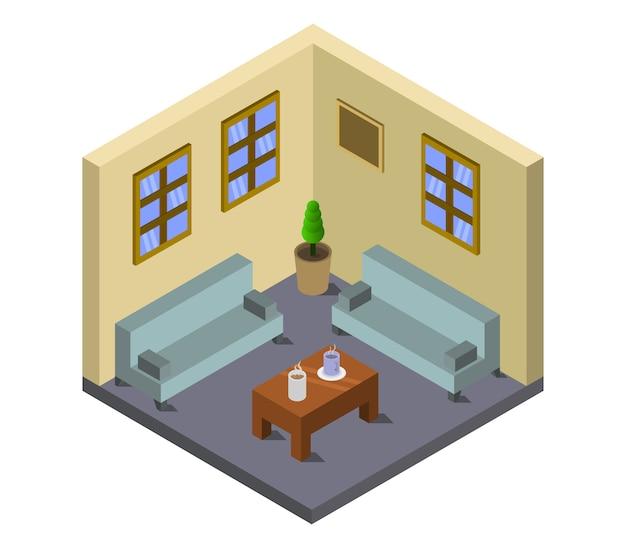 Izometryczny salon