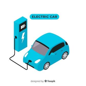 Izometryczny samochód elektryczny