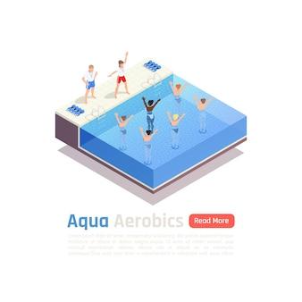 Izometryczny skład izometryczny lekcja zajęć wodnych aqua aerobik