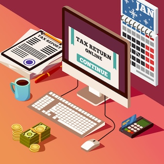 Izometryczny skład rachunkowości i podatków