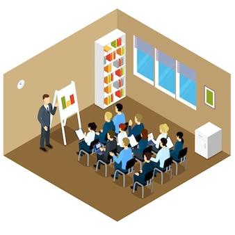 Izometryczny skład zajęć w pomieszczeniach