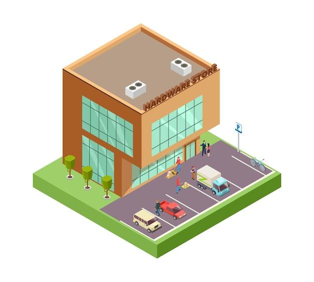 Izometryczny sklep z narzędziami.