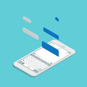 Izometryczny smartfon