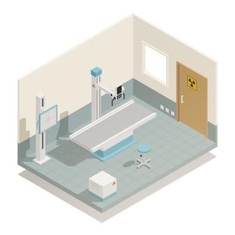 Izometryczny sprzęt medyczny szpitalny