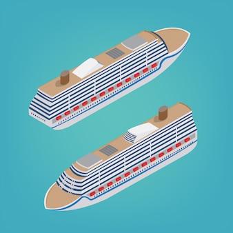 Izometryczny statek pasażerski