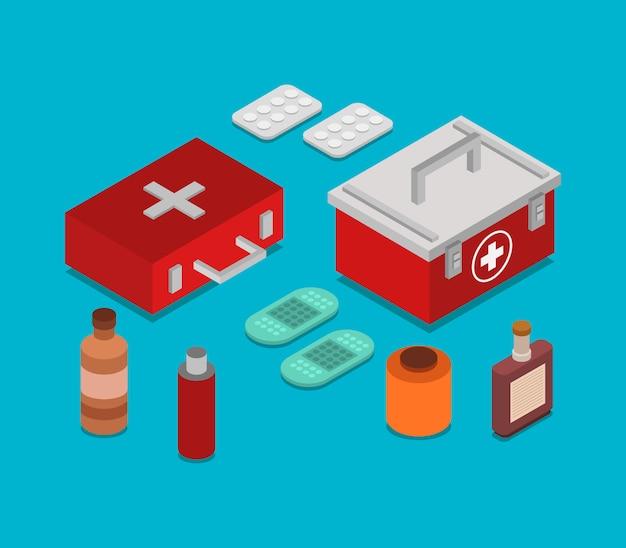 Izometryczny stół lekarski
