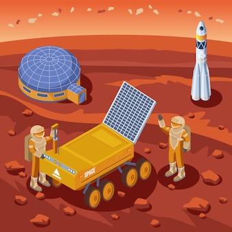 Izometryczny szablon eksploracji marsa