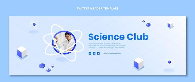 Izometryczny szablon nagłówka twittera nauka