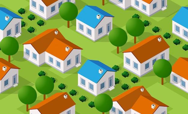 Izometryczny wzór wsi