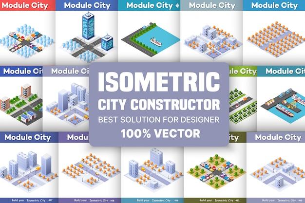 Izometryczny zestaw bloków