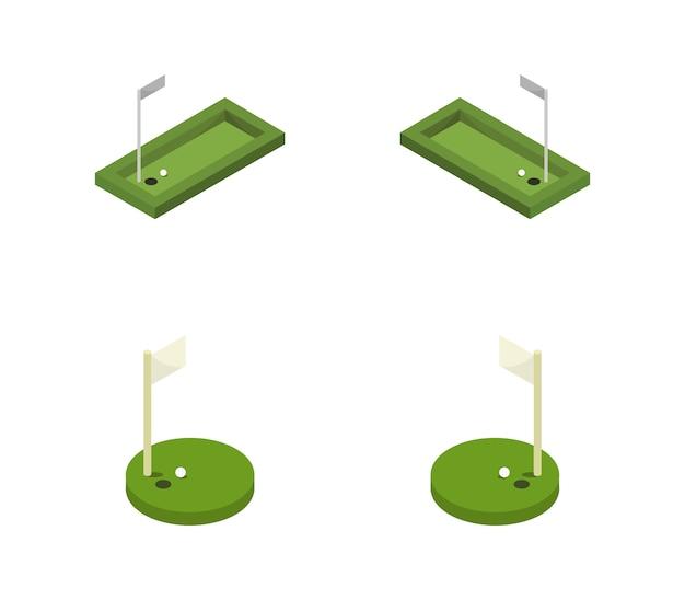 Izometryczny zestaw golfowy