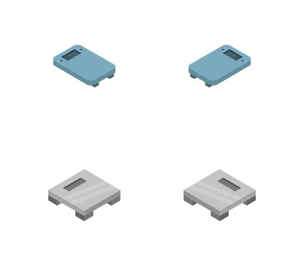 Izometryczny zestaw łazienkowy