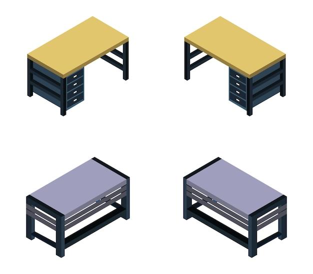 Izometryczny zestaw na biurko