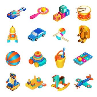 Izometryczny zestaw zabawek