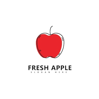 Jabłko logo świeżych owoców ilustracja wektorowa