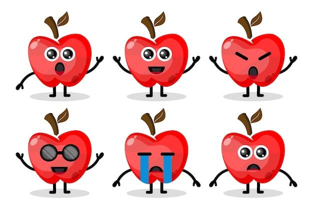 Jabłko maskotka owocowa płaska konstrukcja