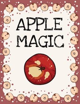 Jabłkowa magia z ramą jabłka