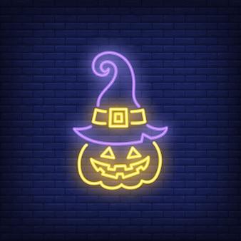 Jack o lantern neonowy znak