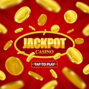 Jackpot casino online design tła