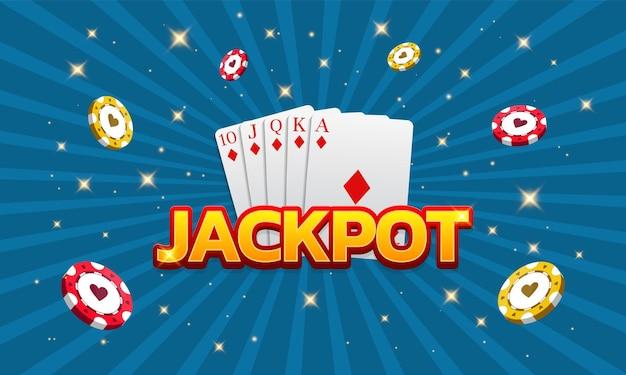 Jackpot kasyno gry w pokera karty i żetony royal flash może być używany jako banne plakatu ulotki