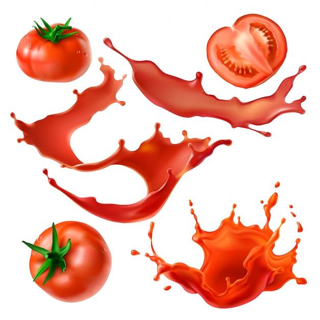Jagody i soki z pomidorów