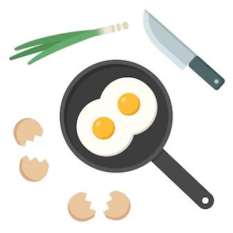Jajka sadzone na patelni