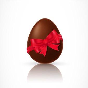 Jajko czekoladowe z wstążką