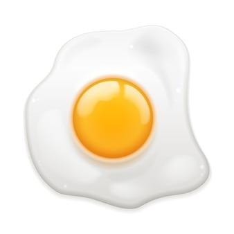 Jajko sadzone na białym tle