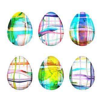 Jajko wielkanocne w stylu przypominającym akwarele