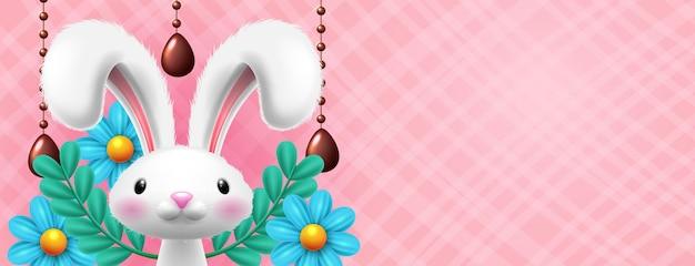 Jajko wielkanocne z królikiem
