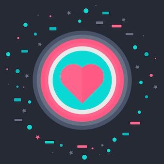 Jak ikona z sercem