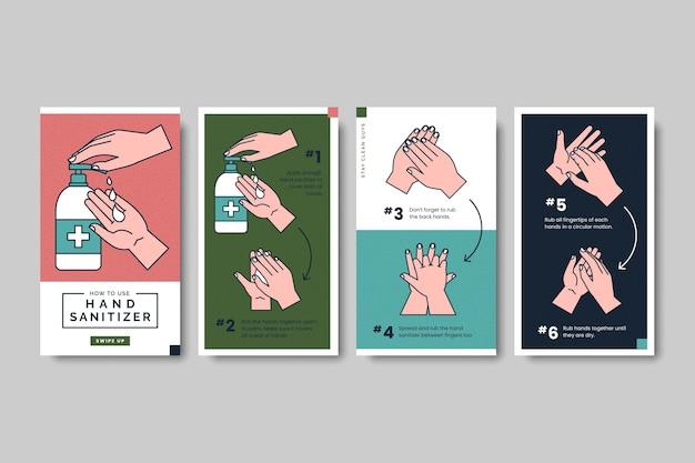 Jak korzystać z zestawów artykułów instagram na temat produktów sanitarnych